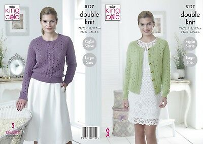 KINGCOLE 5127 DK KNITTING PATTERN 28-46 INCH -not the finished garments