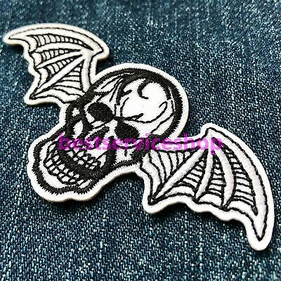 Avenged Sevenfold A7X Deathbat Logo Skull Album Music Embroidered Iron On Patch
