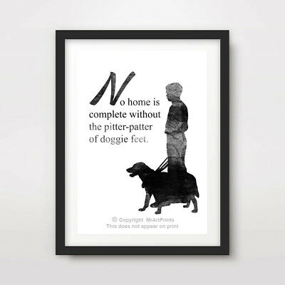 Doggy Feet Animal Quote Wooden Plaque Sign Laser Engraved pq90