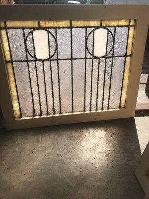 SG 2247 antique textured and Stainglass landing window 30.25 x 24.25 hi