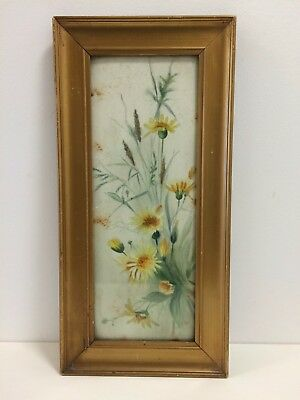 Original early 19th-century signed watercolour painting - Flowers