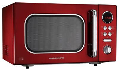Morphy Richards 511512 Accents Red Countertop Microwave 23l Solo 800w