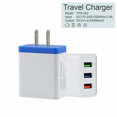USB Wall Charger Power Adapter AC Home US Plug for iPhone 6 7 8 X Samsung LG HTC