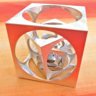 "Four Cubes in a Cube, the famous Turner's Cube puzzle, 50mm or 2"" size"