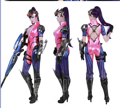 NEW Overwatch OW Widowmaker Amelie Lacroix Cosplay Costume Zentai Skin Jumpsuits