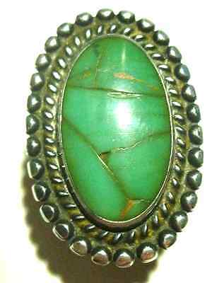 Very Old Antique Mexico Mexican Southwestern Sterling Silver Shield Ring
