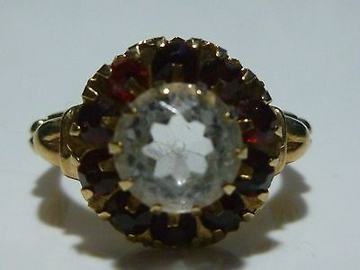 Stunning Style-Art 10K Gold Vintage Antique Estate Womens Ring Band Size 7