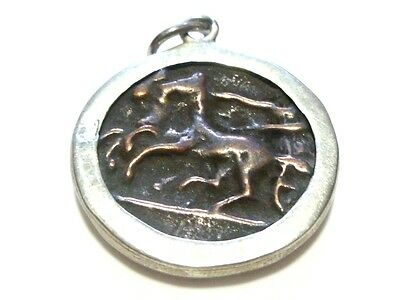 A. Leondarakis Greek Greece Sterling Silver Brass Coin Replica Pendant Charm