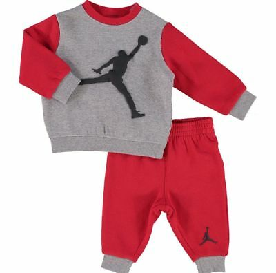 ec753a7669ca4a NIKE AIR JORDAN Jumpman Collection Baby 2-piece Tracksuit Grey   Red 12  months