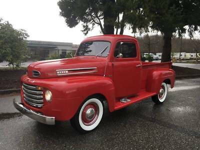 1949 Ford F-100 -- 1949 Ford F-100  9416 Miles Red Pickup Truck V8 Other Flat head Manual