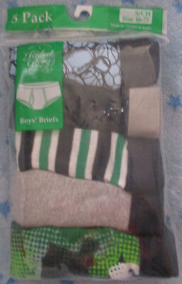 Boys Faded Glory Briefs - 5 Pack - Size: S (6-7) - NWT!