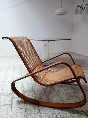 Sedia A Dondolo Rocking Chair Crassevig Design Anni 70