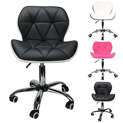 Modern Office Computer Desk Swivel Style Study Height Ajust Chair With Wheels