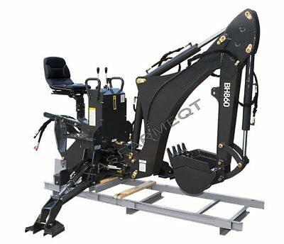 "Ansung BH860 3-Point Backhoe, 16"" Bucket, 8'9"" Digging Depth, 45-65 HP Tractors"