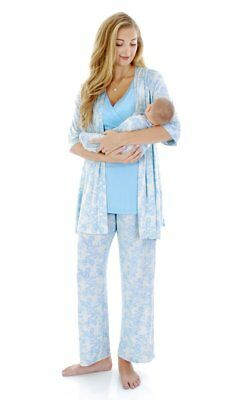 Everly Grey Roxanne During/After 3-Piece Maternity Nursing Pajama Set Small S