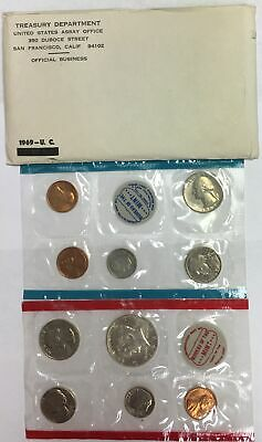 1969 US Mint Set,40% Silver Half Dollar in Original Envelope