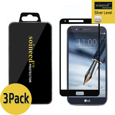 [3-Pack] SOINEED LG Stylo 3 Plus Full Cover Tempered Glass Screen Protector