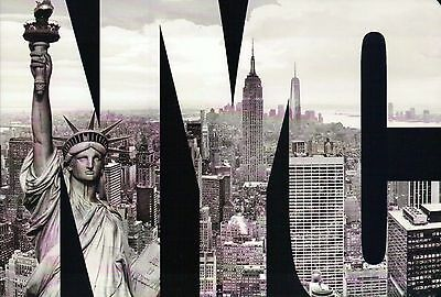 Statue of Liberty, Freedom Tower & Empire New York City, Large Letter - Postcard