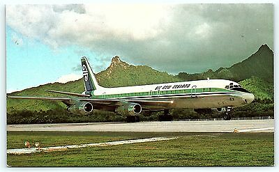 Postcard Air New Zealand Limited DC-8 Airlines Plane B36