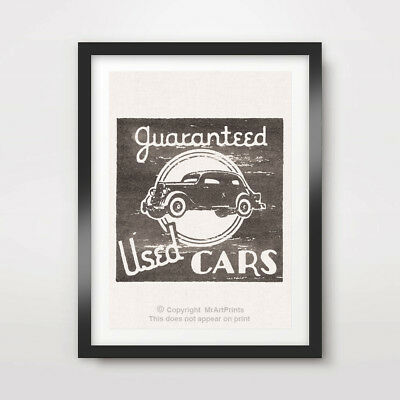 VINTAGE CAR ADVERTISEMENT ART PRINT POSTER Transport Wall Picture A4 A3 A2 Retro