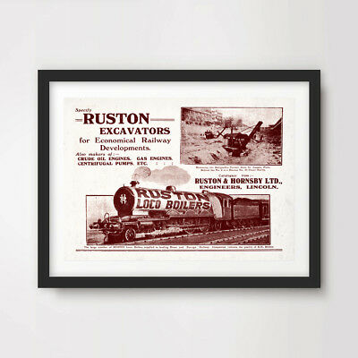 VINTAGE LOCOMOTIVE ART PRINT POSTER Transport Wall Picture A4 A3 A2 Train Advert