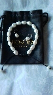 honora pearl friendship bracelet white pearl and sterling silver pearl earrings
