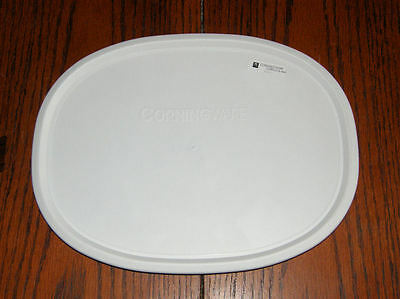 1 NEW F-2 Lid Corning Ware French White Oval Plastic Cover Lid for F-2-B/F-6-B