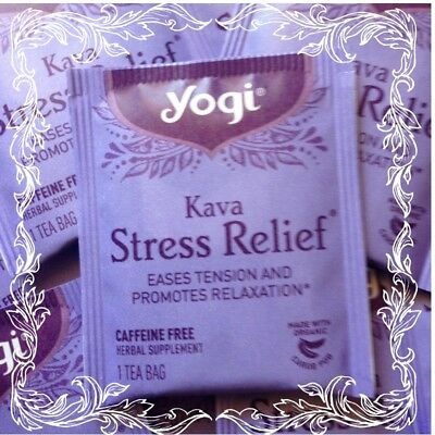 KAVA STRESS RELIEF YOGI Eases Tensions & promotes Relaxation 16 tea bags REFILL