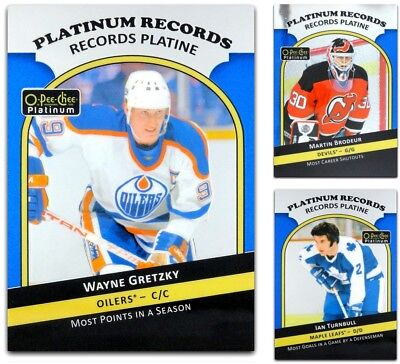 2017-18 OPC Platinum Records Platine **** PICK YOUR CARD **** From The List