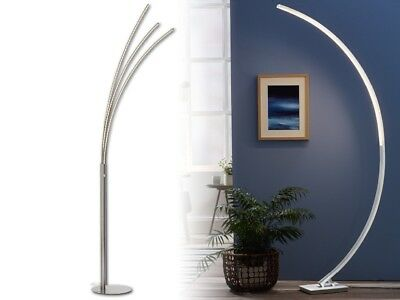 Livarno lux curved led floor lamp silver modern stylish design amazing livarno lux curve led floor lamp 68 energy saving curved design mozeypictures Gallery
