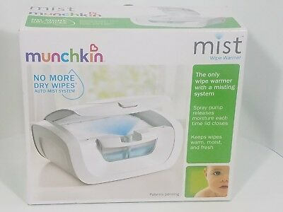 Munchkin Mist Wipe Warmer Baby Comfort Holds 100 Fresh Wipes New