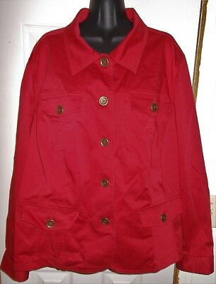 New Nwot Jacket Top Sz 3X Jones New York Stretch Womens 98% Cotton Sexy