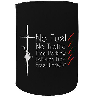 Stubby Holder - No Fuel Bike Cycle Cycling - Funny Novelty Birthday Gift Joke