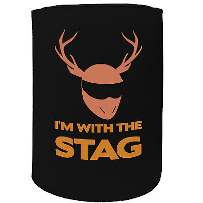 Stubby Holder - Im With The Stag Bucks Party Night - Funny Novelty Birthday Gift