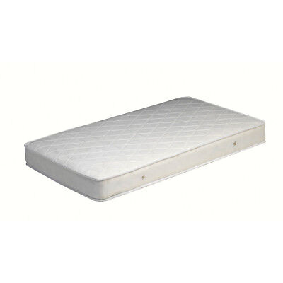 NEW Deluxe Bebecare Inner Spring Low Allergenic Baby Cot Firm Mattress - White