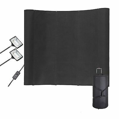 Black Display Trade Show Booth Exhibit Pop Up Kit Spotlights WFS323 8FT Portable
