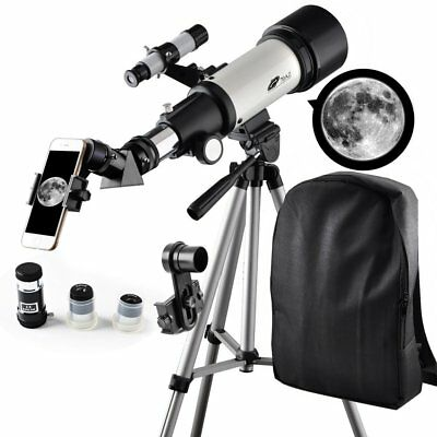 Telescope to View Moon and Planet-Telescope 70mm Apeture 400mm AZ Mount