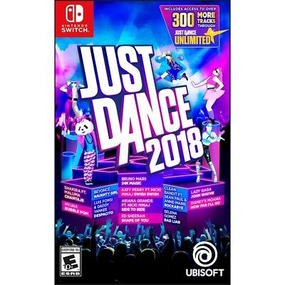 Nintendo Switch Just Dance 2018 Brand New Factory Sealed