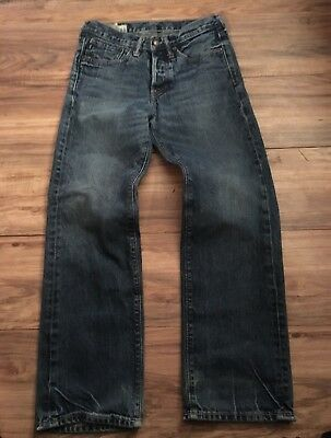 Abercrombie Boys Blue Denim Jeans Size 14 Button Fly