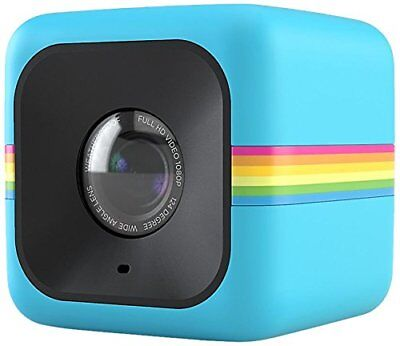 Polaroid  POLC3 Cube HD Digital Video Action Camera Blue with tracking