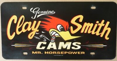 CLAY SMITH CAMS  Number Plate Sign Nostalgic Automotive Novelty Metal Tin Sign