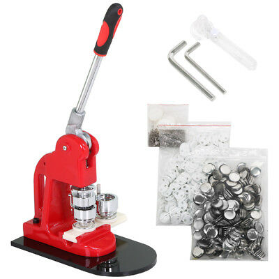 25mm DIY Button Maker Badge Press Machine Circle Cutter Mold Free 500 Buttons