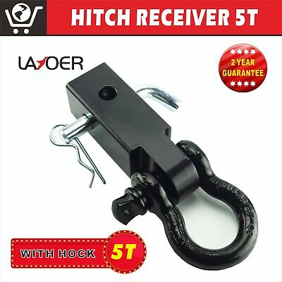 Hitch Receiver 5T Towbar Recovery Receiver with Bow Shackle Tow Bar 4WD Off Road