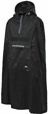 Trespass Unisex Qikpac Packaway Poncho, Black, S