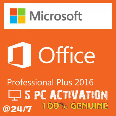 Microsoft Office Professional Plus 2016 5 PC ACTIVATION KEY | INSTANT DELIVERY