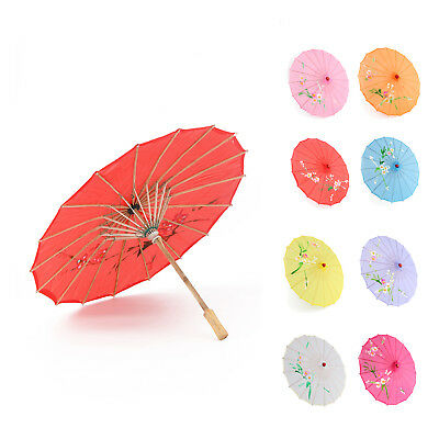 Japanese Chinese Umbrella Art Deco Painted Parasol For Wedding Dance Party New
