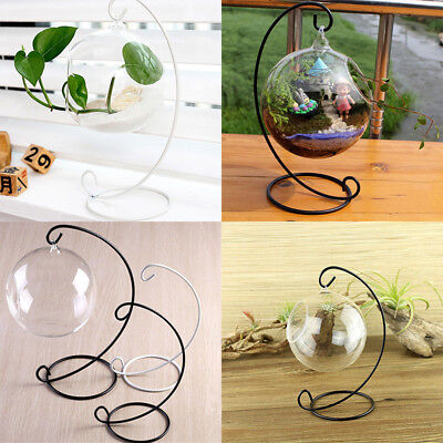 Ferro Lanterna Treppiede Hanging Candeliere Glass Ball Candle Holder Decor