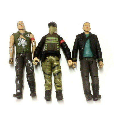 Lot 3Pcs TERMINATOR SALVATION JOHN CONNOR Marcus Playmates toy 2009 Figure toys