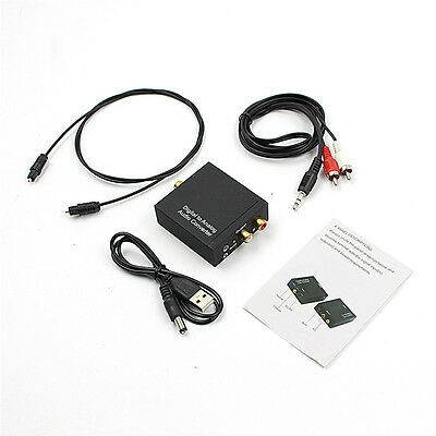 3.5mm Digital Coaxial  Optical to Analog L/R RCA Audio Converter Adapter ''