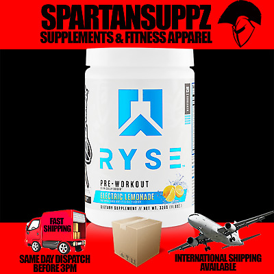RYSE PRE WORKOUT Extreme Energy 20 Serves Focus Nootropic Beta Alanine Strength